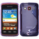 Silikon Hülle Galaxy Xcover S-Style lila