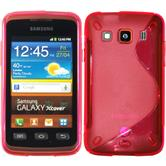 Silicone Case for Samsung Galaxy Xcover S-Style hot pink