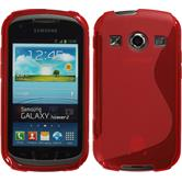 Silikon Hülle Galaxy Xcover 2 S-Style rot