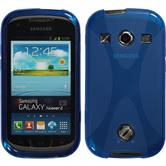 Silicone Case for Samsung Galaxy Xcover 2 X-Style blue
