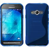 Silicone Case for Samsung Galaxy Xcover 3 S-Style blue