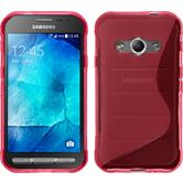 Silicone Case for Samsung Galaxy Xcover 3 S-Style hot pink