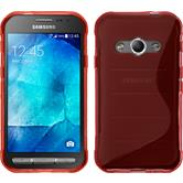 Silicone Case for Samsung Galaxy Xcover 3 S-Style red