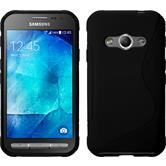 Silikon Hülle Galaxy Xcover 3 S-Style schwarz