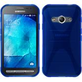 Silicone Case for Samsung Galaxy Xcover 3 X-Style blue
