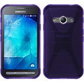 Silikon Hülle Galaxy Xcover 3 X-Style lila