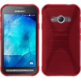 Silicone Case for Samsung Galaxy Xcover 3 X-Style red
