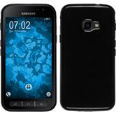 Silikon Hülle Galaxy Xcover 4  schwarz + 2 Schutzfolien