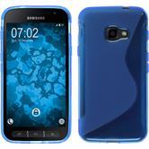 Silikon Hülle Galaxy Xcover 4 S-Style blau + 2 Schutzfolien