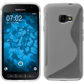 Silikon Hülle Galaxy Xcover 4 S-Style clear + 2 Schutzfolien