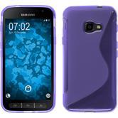 Silikon Hülle Galaxy Xcover 4 S-Style lila + 2 Schutzfolien
