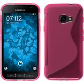 Silikon Hülle Galaxy Xcover 4 S-Style pink