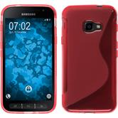 Silikon Hülle Galaxy Xcover 4 S-Style rot