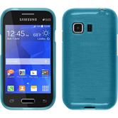 Silicone Case for Samsung Galaxy Young 2 brushed blue