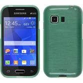 Silicone Case for Samsung Galaxy Young 2 brushed green