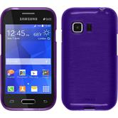 Silicone Case for Samsung Galaxy Young 2 brushed purple