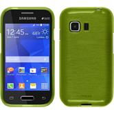 Silicone Case for Samsung Galaxy Young 2 brushed pastel green