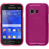 Silicone Case for Samsung Galaxy Young 2 brushed hot pink