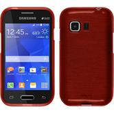 Silicone Case for Samsung Galaxy Young 2 brushed red