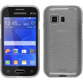 Silicone Case for Samsung Galaxy Young 2 brushed white