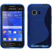 Silikonhülle für Samsung Galaxy Young 2 S-Style blau