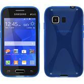 Silikonhülle für Samsung Galaxy Young 2 X-Style blau