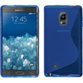 Silikon Hülle Galaxy Note Edge S-Style blau