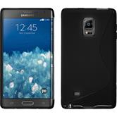 Silikon Hülle Galaxy Note Edge S-Style schwarz