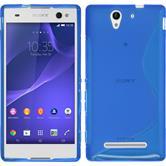 Silikon Hülle Xperia C3 S-Style blau