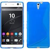 Silikon Hülle Xperia C5 Ultra S-Style blau