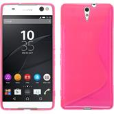 Silikon Hülle Xperia C5 Ultra S-Style pink