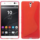 Silikon Hülle Xperia C5 Ultra S-Style rot