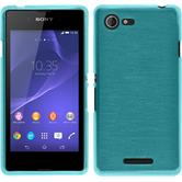 Silicone Case for Sony Xperia E3 brushed blue