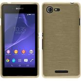 Silicone Case for Sony Xperia E3 brushed gold