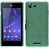Silicone Case for Sony Xperia E3 brushed green