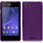 Silicone Case for Sony Xperia E3 brushed purple