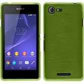 Silicone Case for Sony Xperia E3 brushed pastel green