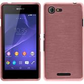 Silicone Case for Sony Xperia E3 brushed pink