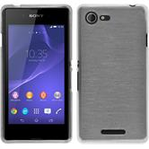 Silicone Case for Sony Xperia E3 brushed white