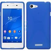 Silikon Hülle Xperia E3 X-Style blau + 2 Schutzfolien