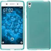 Silikonhülle für Sony Xperia E5 crystal-case türkis