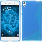 Silikonhülle für Sony Xperia E5 S-Style blau