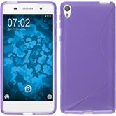 Silikonhülle für Sony Xperia E5 S-Style lila