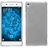 Silikon Hülle Xperia E5 ShockProof clear + 2 Schutzfolien