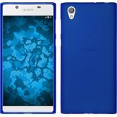 Silikon Hülle Xperia L1 matt blau + 2 Schutzfolien
