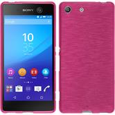 Silikonhülle für Sony Xperia M5 brushed pink