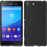 Silikonhülle für Sony Xperia M5 brushed silber
