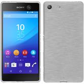 Silikon Hülle Xperia M5 brushed weiß