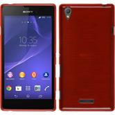 Silikon Hülle Xperia T3 brushed rot