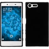 Silikon Hülle Xperia X Compact crystal-case schwarz + 2 Schutzfolien
